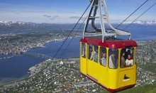 Take the cable car up and get a spectacular view over Tromsø
