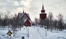Kiruna Church is one of Sweden`s largest wooden buildings