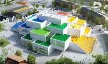 The LEGO® House is made by 21 BIG LEGO Bricks
