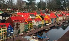 In Legoland you can see cities and famous buildings - all built by Lego bricks