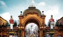 Tivoli Gardens is one of most famous attractions in Copenhagen