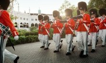 The Tivoli Youth Guard have every day shows in the Garden